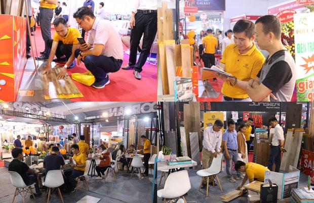 Hình ảnh khách hàng trải nghiệm sản phẩm tại Floordi