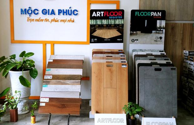 Khu trưng bày sản phẩm sàn gỗ showroom