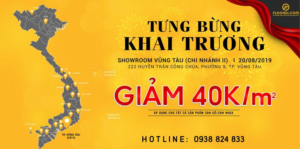 Chương trình Giảm giá đặc biệt mừng Khai Trương Showroom Floordi Vũng Tàu (CNII)