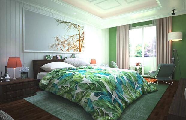 Phòng ngủ đặc trưng của Tropical Style