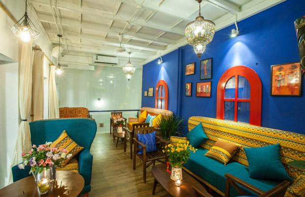 Quán cafe theo phong cách Tropical