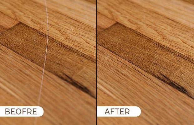Cách khắc phục sàn gỗ bị trầy xước