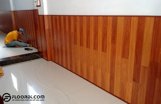 cách thi công gỗ ốp tường
