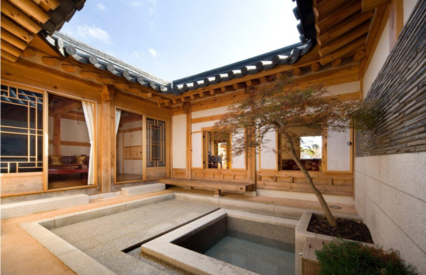 Chất liệu gỗ sử dụng trong lối thiết kế Hàn