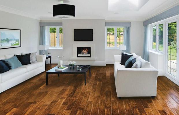 Có nên lát sàn gỗ cho phòng khách