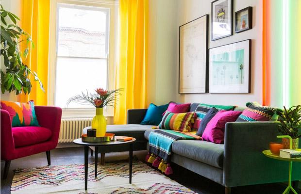 olor Block – Xu hướng thiết kế nội thất đa sắc màu