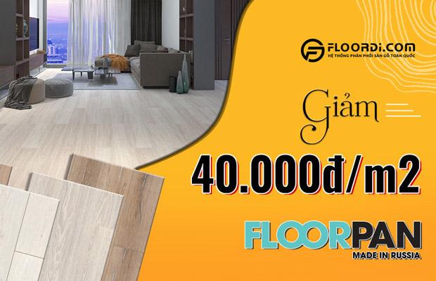 giảm giá 40k sàn gỗ floorpan