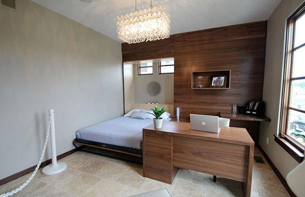 Gỗ ốp tường phòng ngủ màu trung tính