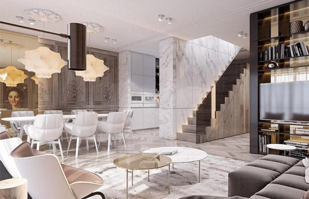 Không gian Neo-Classical Interior tinh giản sang trọng