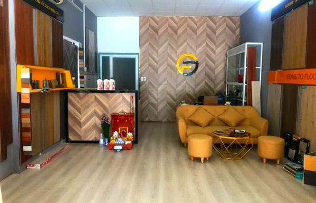 Không gian showroom sàn gỗ tại bình dương