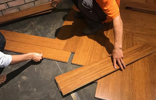 Lắp sàn gỗ tre