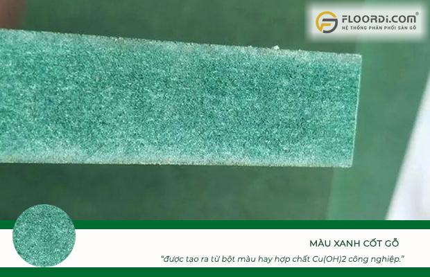 Màu xanh trong cốt gỗ được tạo ra từ bột màu hay hợp chất Cu(OH)2 công nghiệp