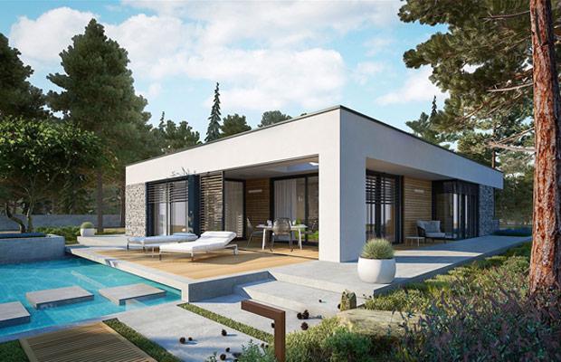 Nhà 1 tầng nhỏ gọn thiết kế bể bơi đầy tiện nghi