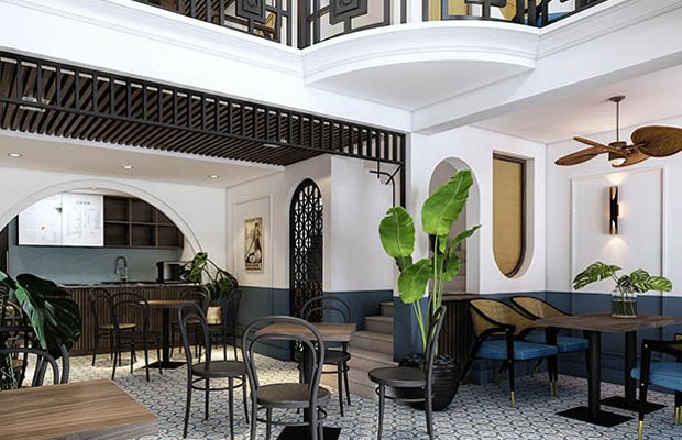 Nhà hàng thiết kế theo phong cách Indochine