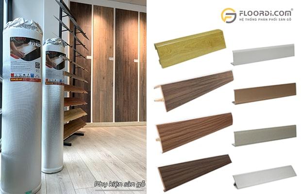Nhóm phụ kiện cần có trong lắp đặt sàn ván gỗ