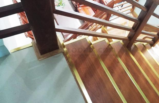 Những điều cần chú ý khi ốp gỗ bậc cầu thang