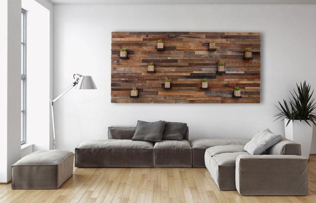 Ốp gỗ vị trítrang trí cách điệu