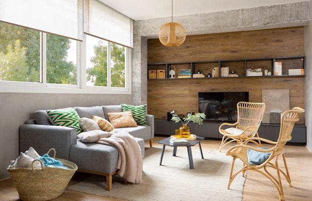 Ốp tường gỗ kiểu bề mặt phẳng