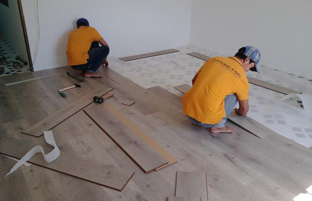 sàn gỗ dễ dàng vệ sinh và lắp đặt
