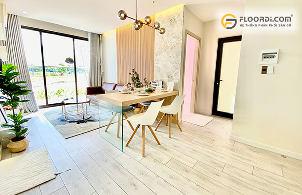 Sàn gỗ tông màu sáng