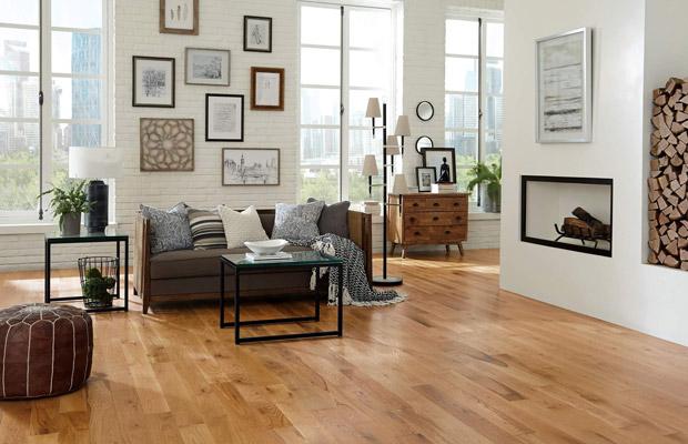 Sàn gỗ tự nhiên phòng khách