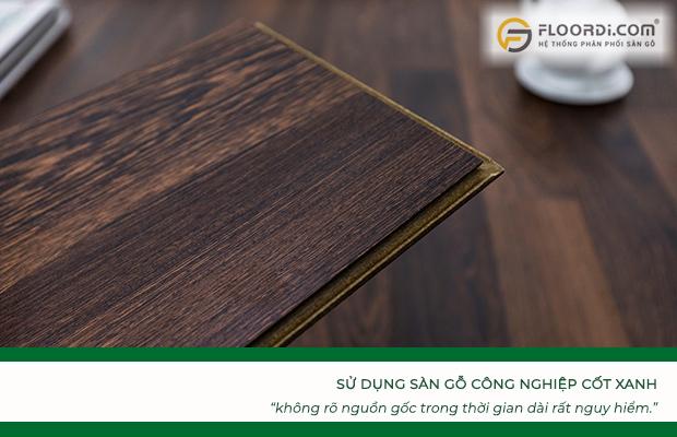 Sử dụng ván sàn Green HDF không rõ nguồn gốc trong thời gian dàirất nguy hiểm