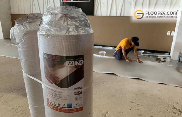 Sử dụng xốp bảo vệ sàn chuyên dụng