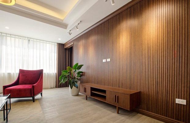 Thanh lam gỗ trang trí phòng khách