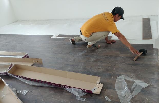 Thi công lắp đặt sàn gỗ công nghiệp