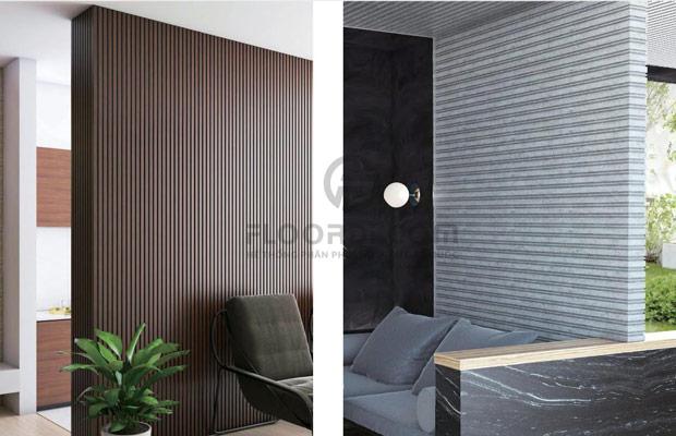 ứng dụng tấm ốp tường ốp trần trong nhà