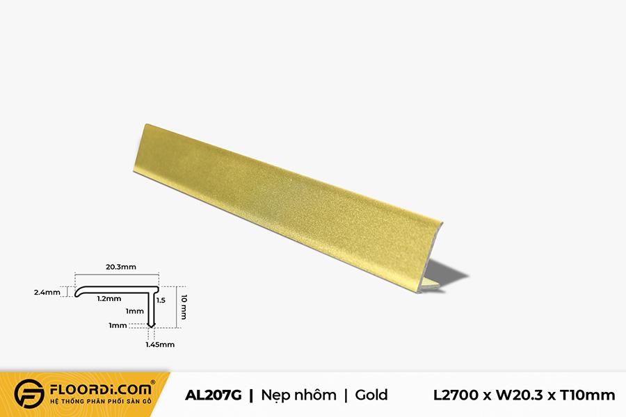 Nẹp nhôm L - AL207G - Gold - 10mm