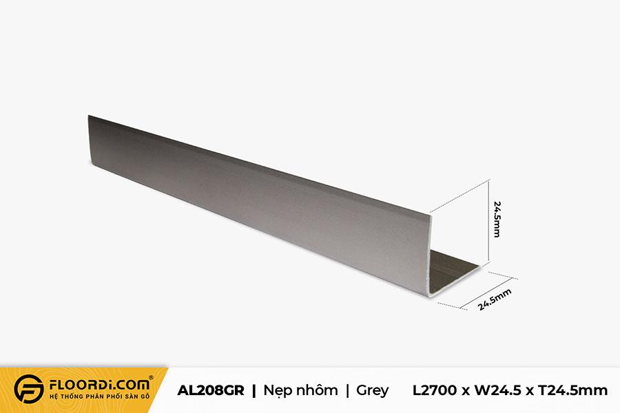 Nẹp V - AL208GR - Grey - 24.5mm