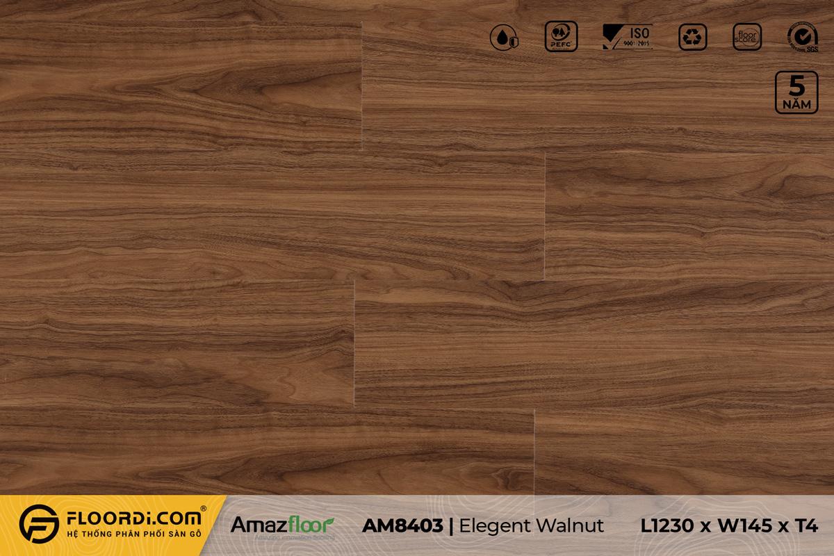 Sàn nhựa AM8403 Elegant Walnut - 4mm