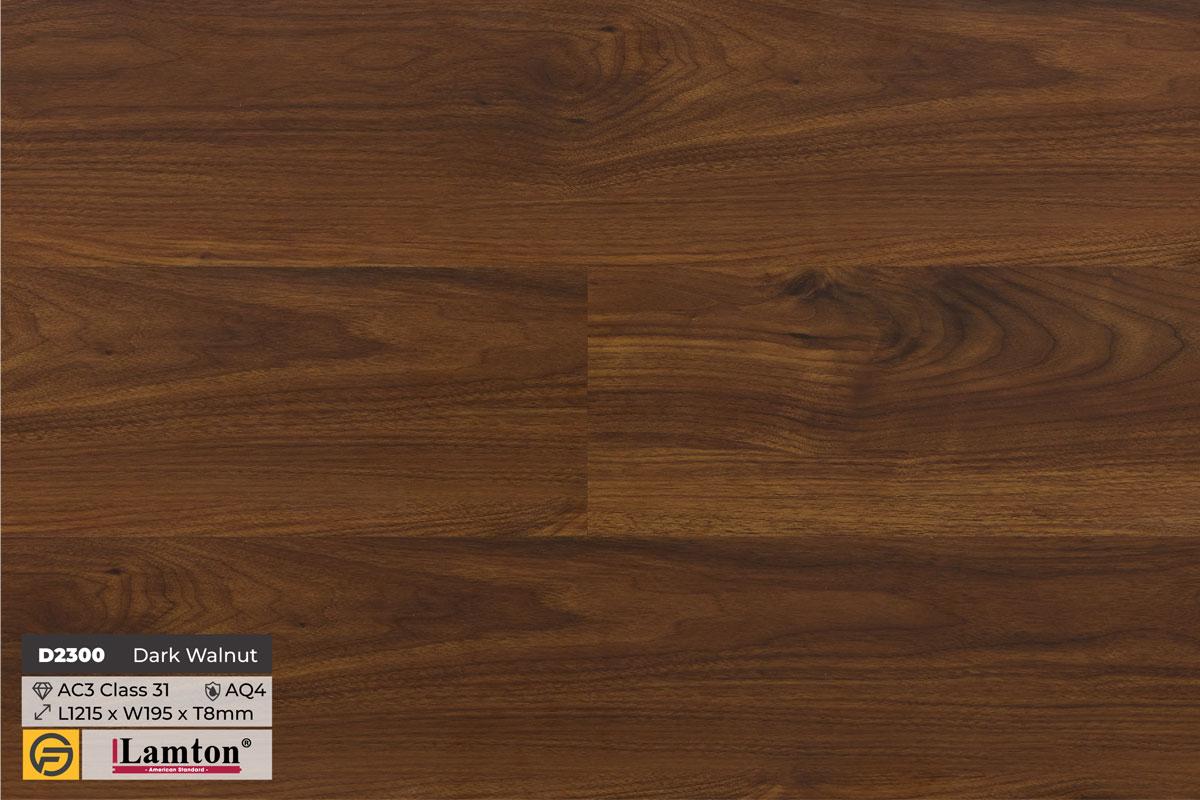 Sàn gỗ D2300 Dark Walnut - 12mm - AC3