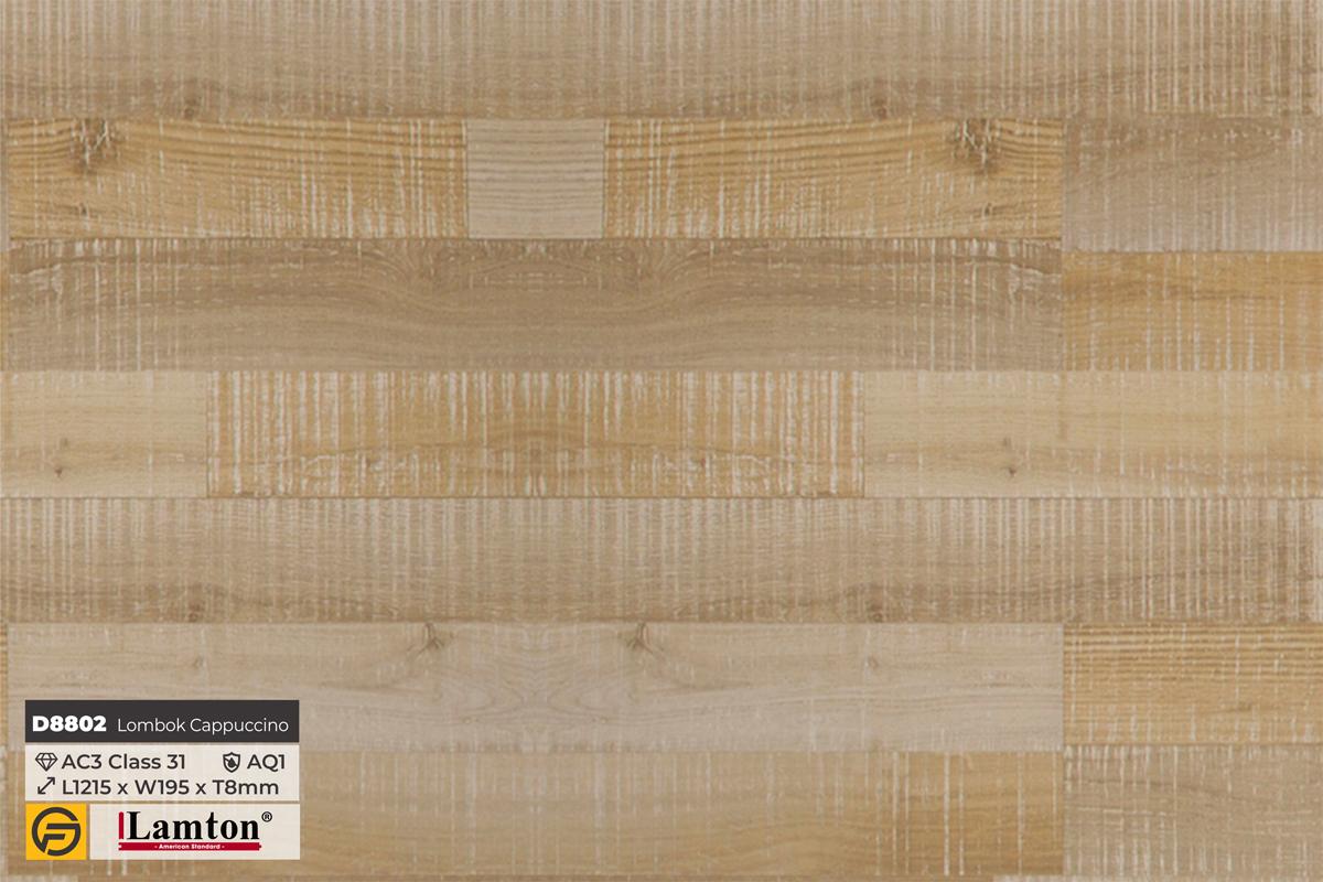 Sàn gỗ D8802 Lombok Cappuccino 8mm - AC3