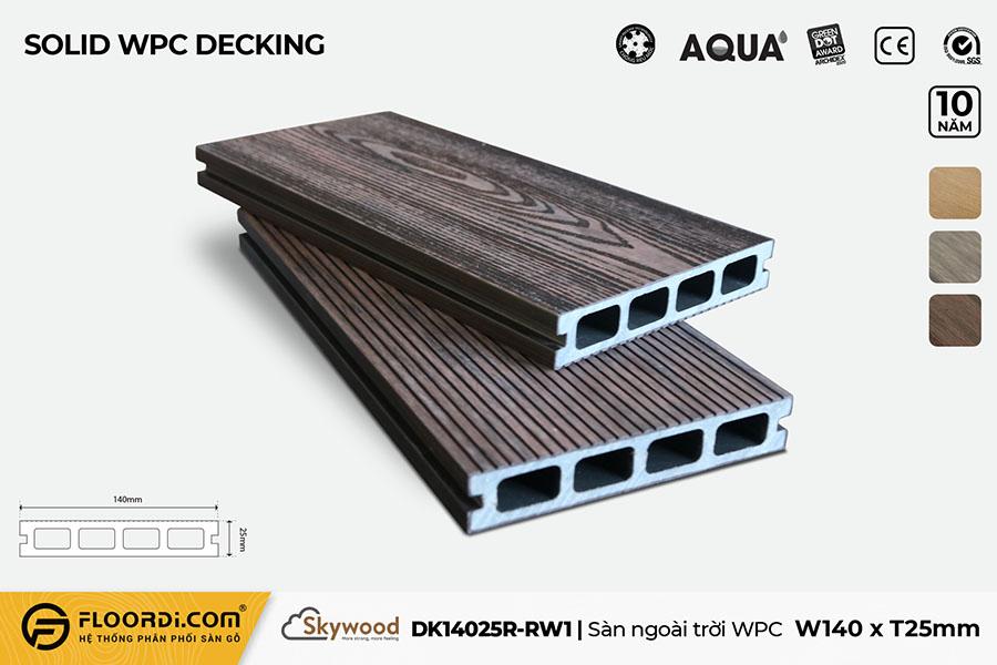 Sàn ngoài trời WPC - DK14025R-RW01 - Rosewood - 25mm