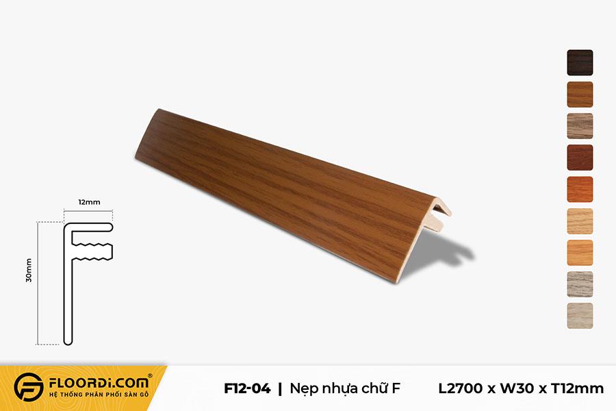 Nẹp chữ F - F12-04 - 12mm
