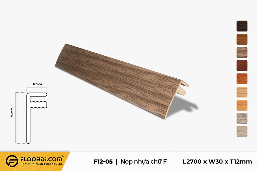 Nẹp chữ F - F12-05 - Gray -  12mm