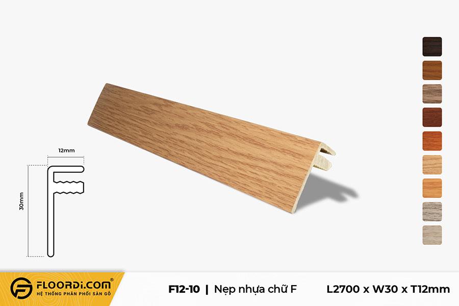 Nẹp chữ F - F12-10 - Wood Grain - 12mm