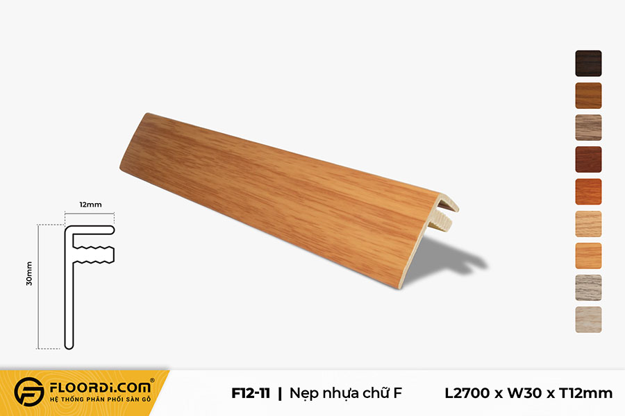 Nẹp chữ F - F12-11 - Yellow - 12mm