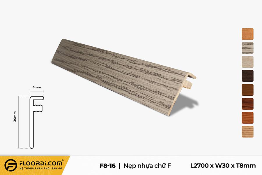 Nẹp F - F8-16 - 3mm