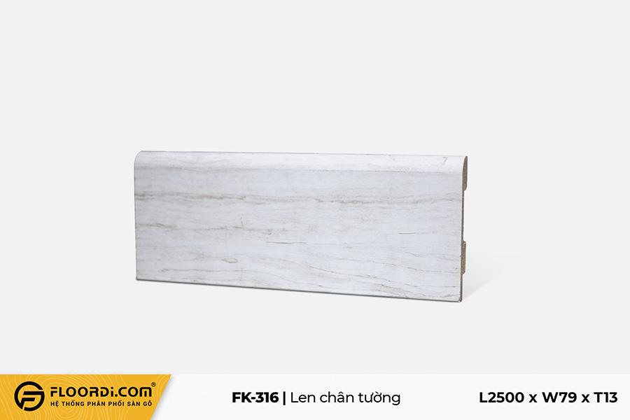 Len chân tường FK-316 - Gray White - 13mm