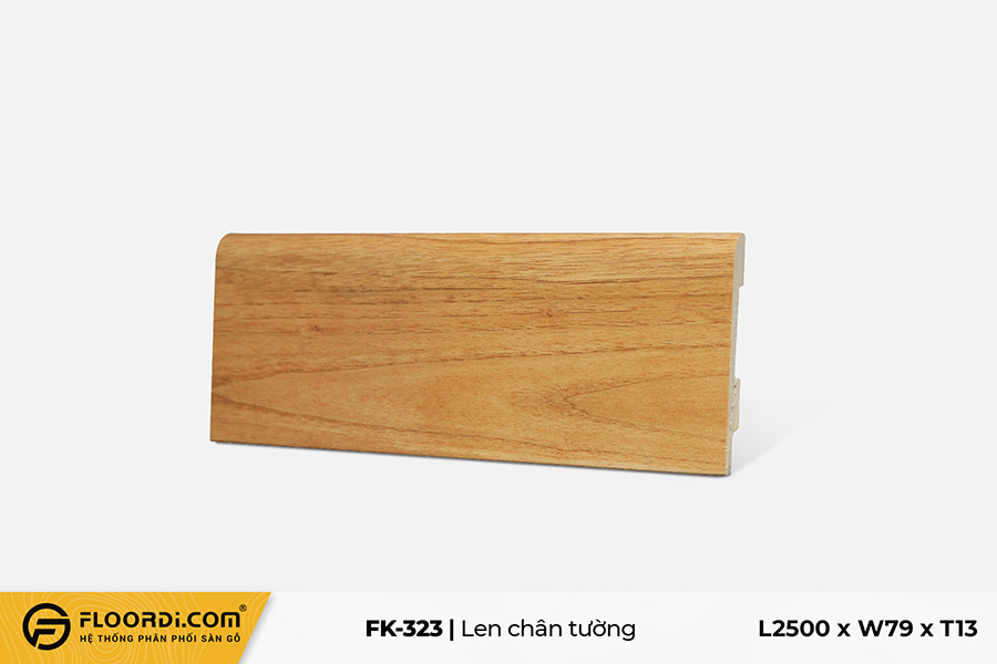 Len chân tường FK-323 - Yellow Brown -  13mm
