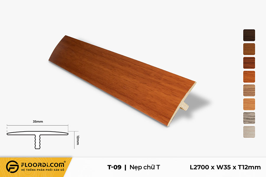Nẹp T - T-09 - 12mm