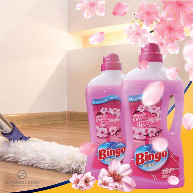 Nước lau sàn bingo fresh pink dreams