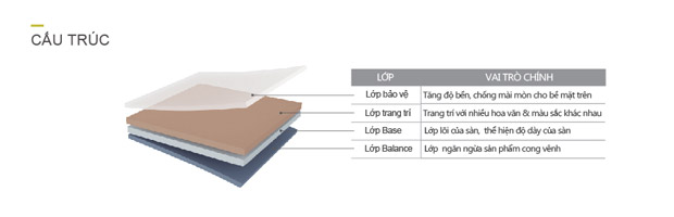 Cấu tạo của sàn nhựa Dongwha