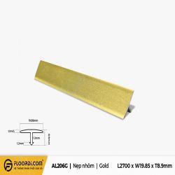 Nẹp chữ T - AL206G - Gold - 8.9mm