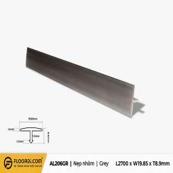 Nẹp nhôm T -  AL206GR - Grey - 8.9mm