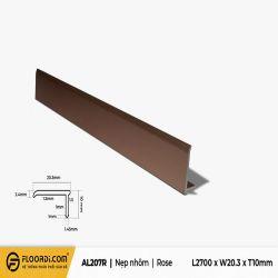 Nẹp chữ L - AL207R - Rose - 10mm