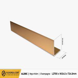 Nẹp V - AL208C - Champagne - 24.5mm